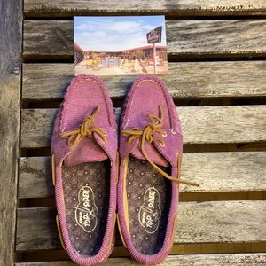 Sperry Top Sider sz 7.5 barely worn, purple cord!